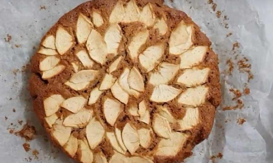 Bizcocho de manzana nueces y canela