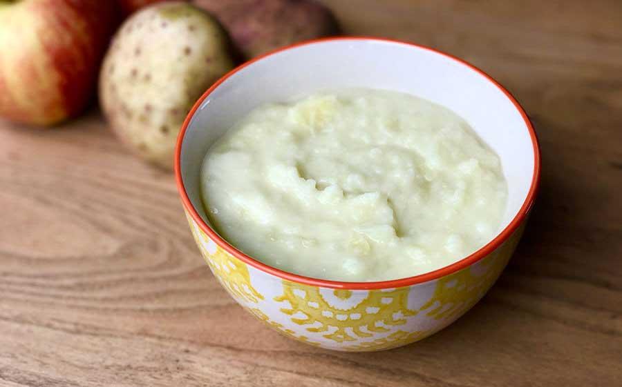 Pure de manzana y patata