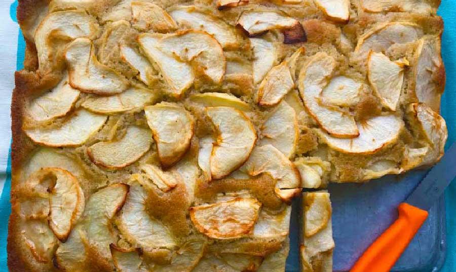 bizcocho de trigo sarraceno y manzana