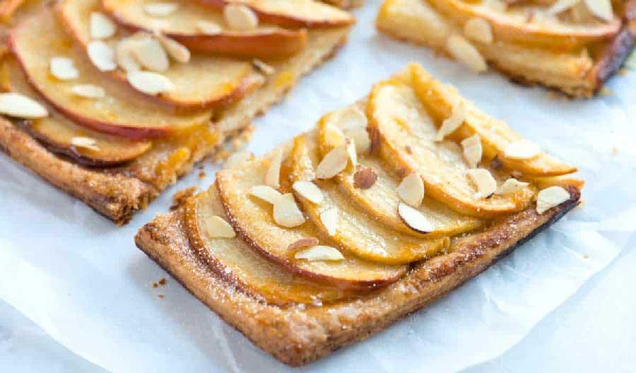 cómo hacer una tarta de manzana sencilla