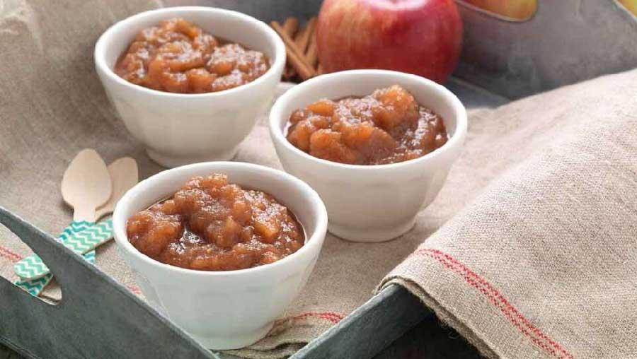 receta de compota de manzana con canela
