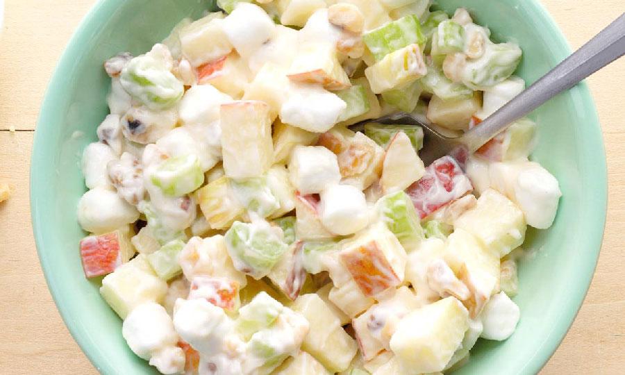 ensalada de manzana con lechera
