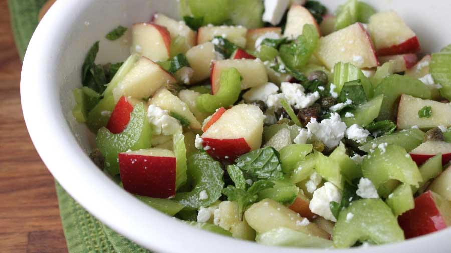 receta de ensalada de manzana y apio