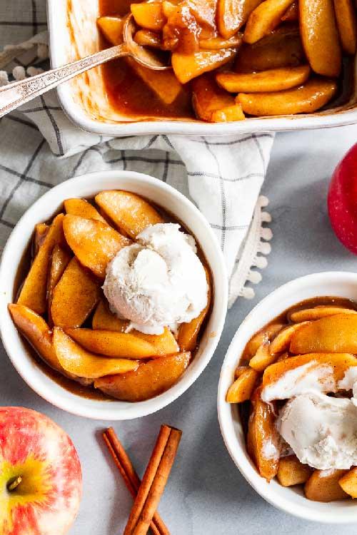 como hacer manzanas caramelizadas al horno, manzanas caramelizadas al horno receta