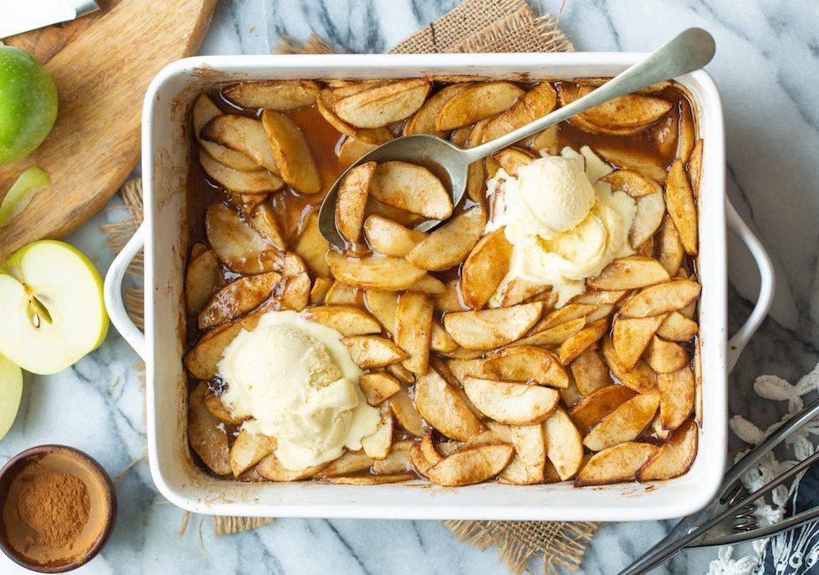 Receta de manzanas al horno con canela