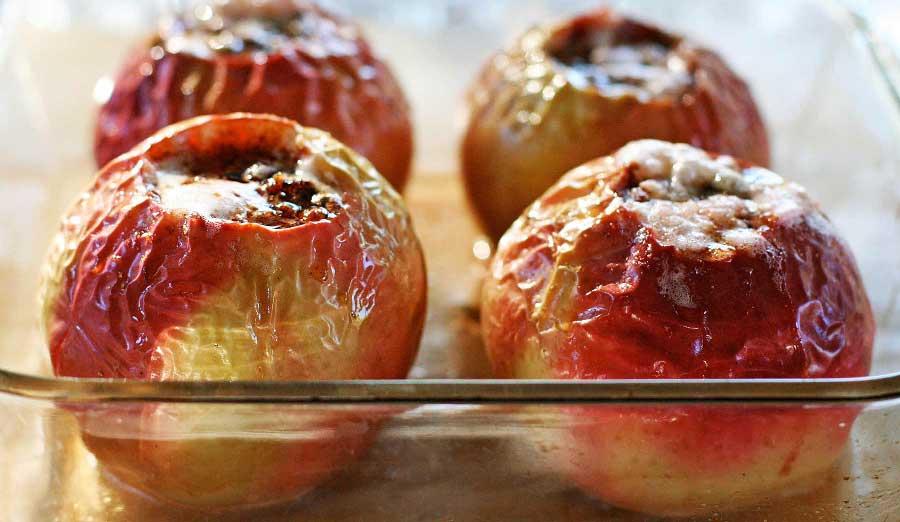 manzana al horno sin azucar