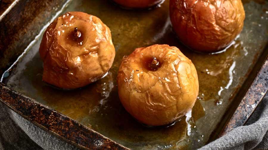 receta de manzana al horno