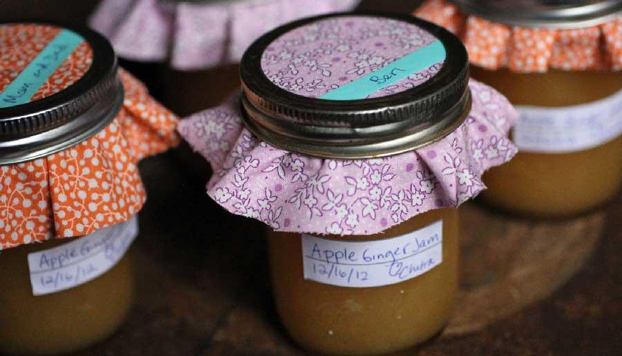 receta de mermelada de manzana y jengibre