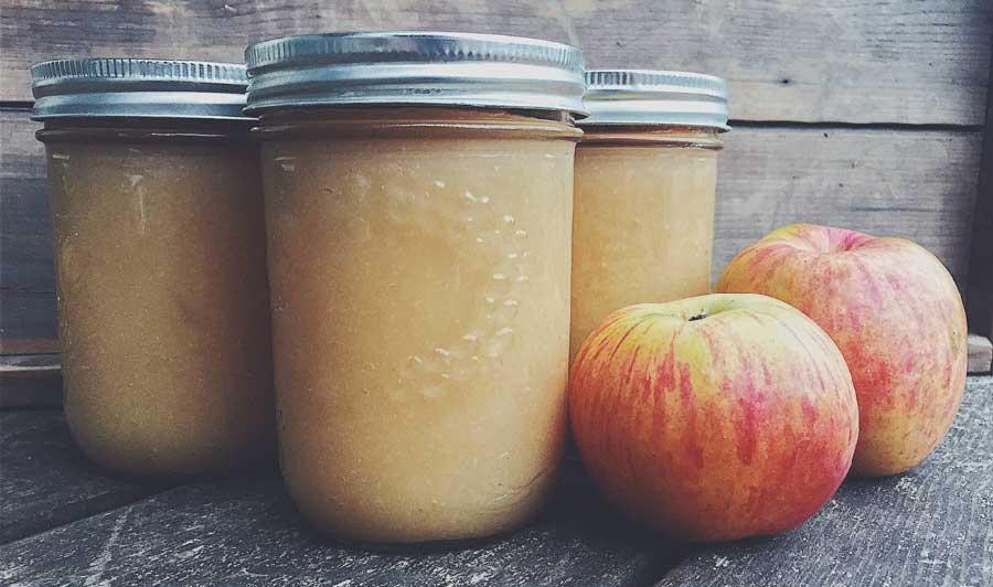 Puré de manzana sin azúcar