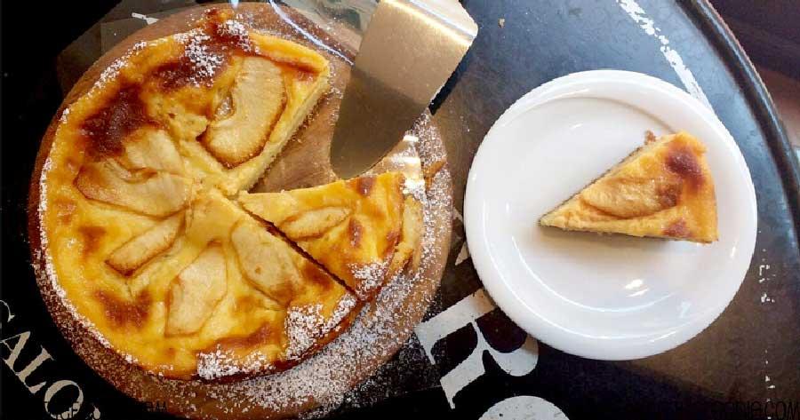 receta de bizcocho de manzana con crema pastelera
