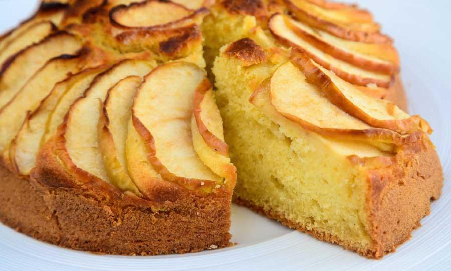 receta de bizcocho de manzana sin azucar