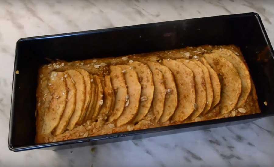 receta de bizcocho de manzana sin huevos