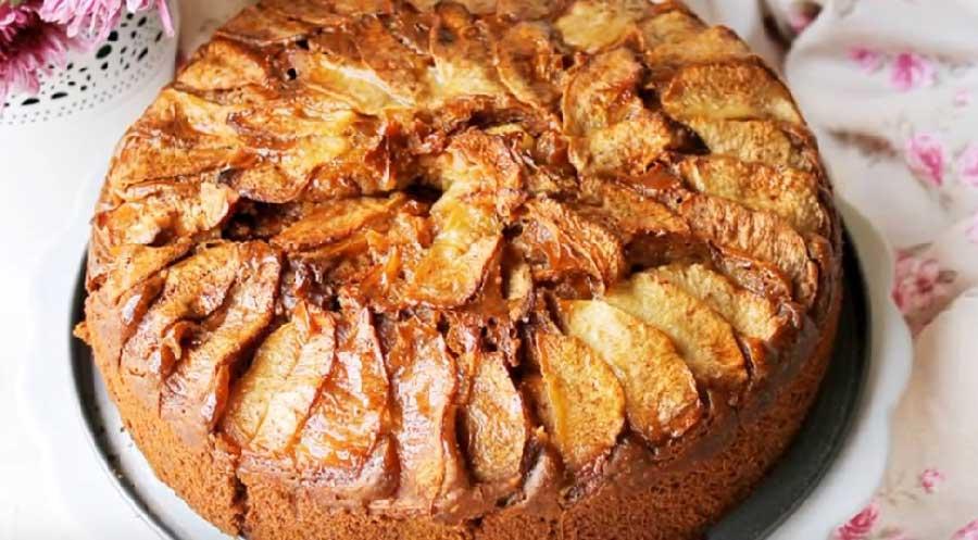 receta de bizcocho de manzana vegano