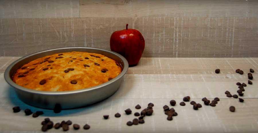 receta de bizcocho de manzana y chocolate