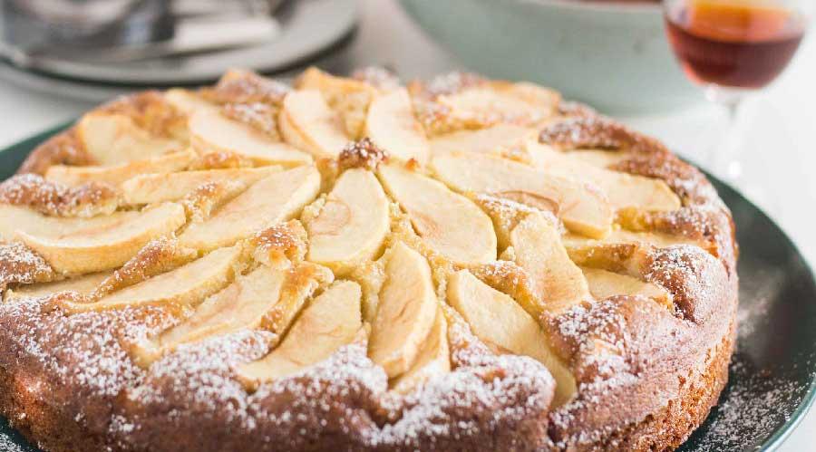 receta de bizcocho de manzana y queso philadelphia
