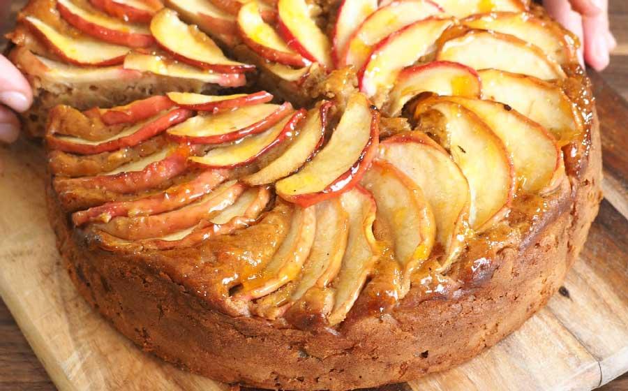 receta de bizcocho de mascarpone y manzana