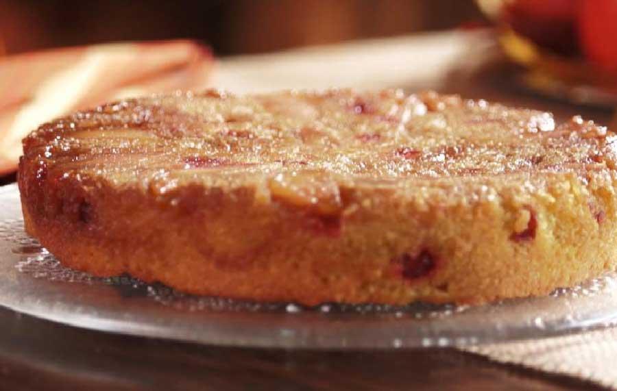 receta de bizcocho de manzana y harina de maiz