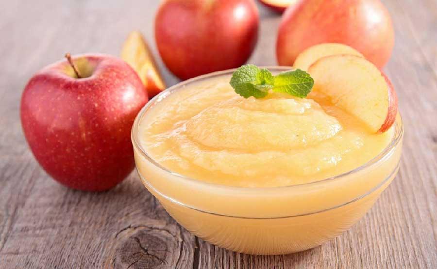 receta de compota de manzana para bebe de 5 meses