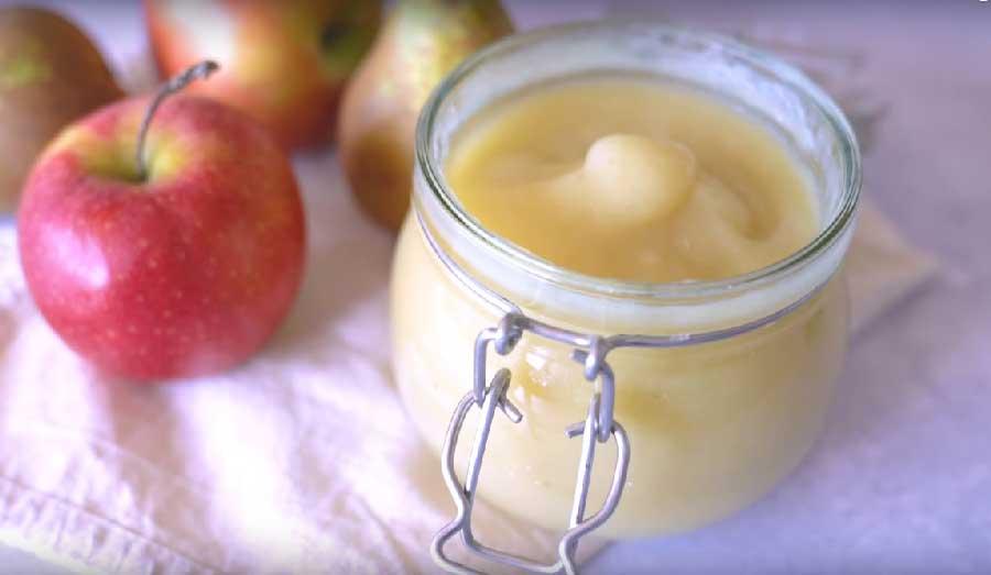 receta de compota de manzana sin azucar
