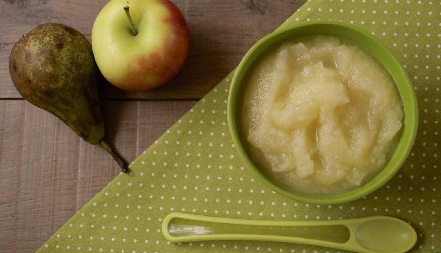 receta de compota de manzana y pera para bebes
