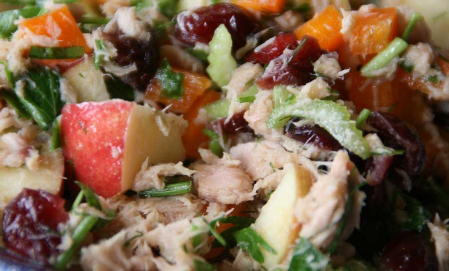 receta de ensalada de manzana con atum