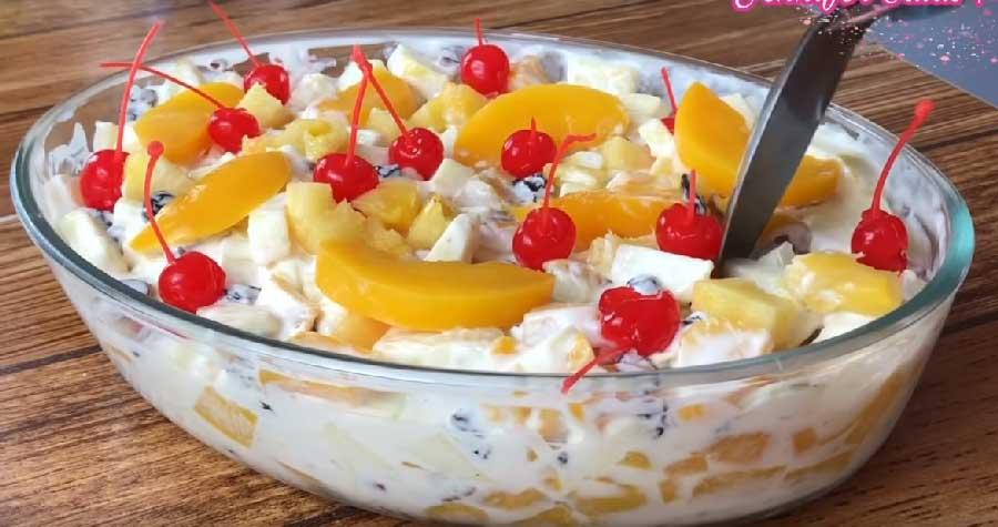 receta de Ensalada de manzana con durazno