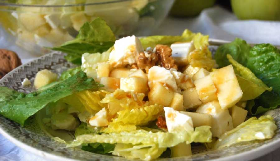 receta de ensalada de manzana y queso