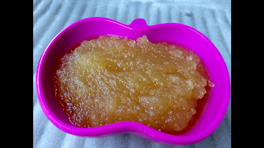 receta de manzana en microondas