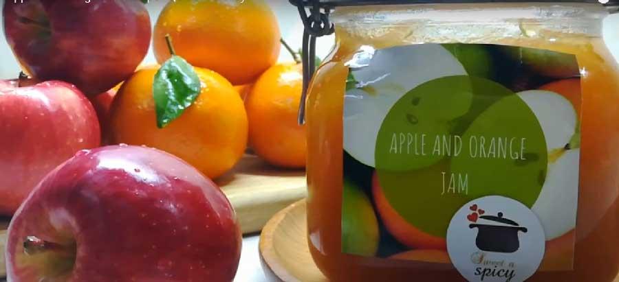 receta de mermelada de manzana y naranja