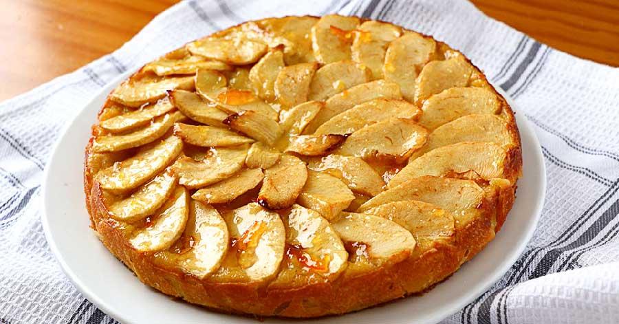 tarta de manzana al horno fácil