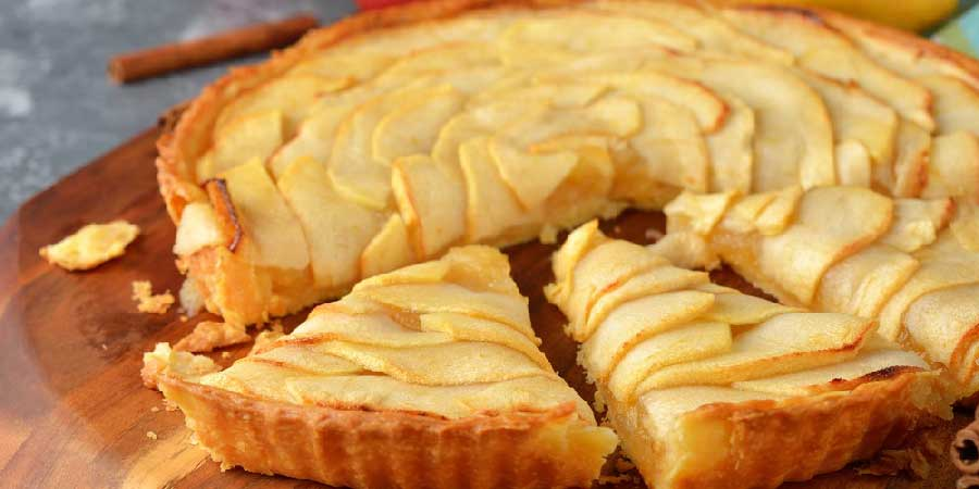 receta tarta de manzana al microondas