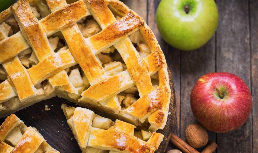 tarta de manzana americana tradicional