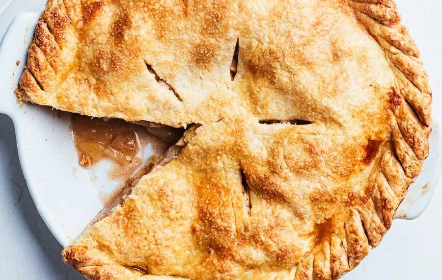 Tarta de manzana con canelaTarta de manzana con canela