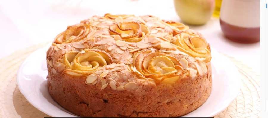 Tarta de manzana de bizcocho
