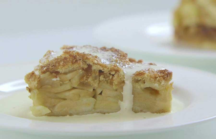 receta tarta de manzana inglesa