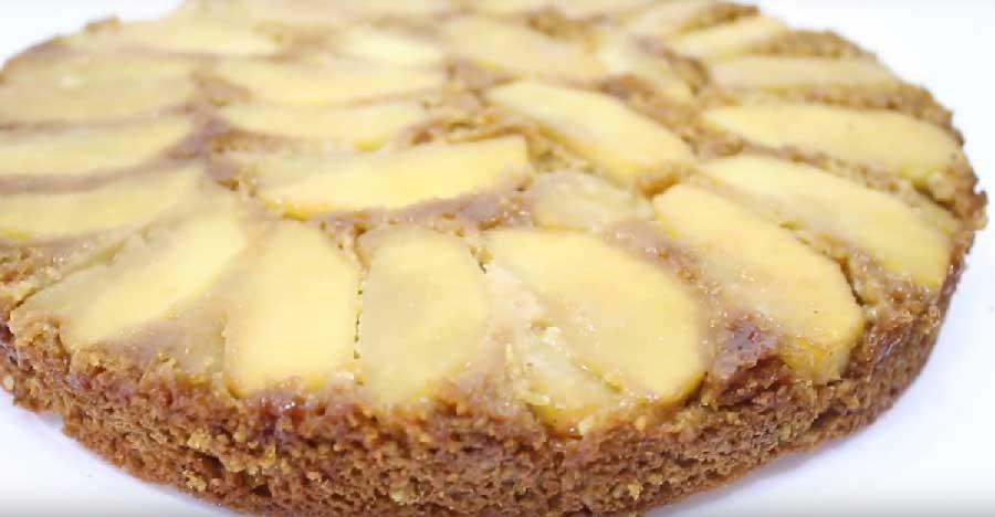 tarta de manzana vegana receta