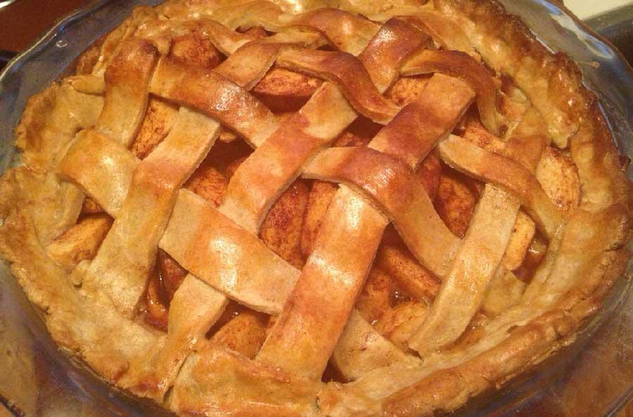 como hacer una tarta de manzana sin azucar