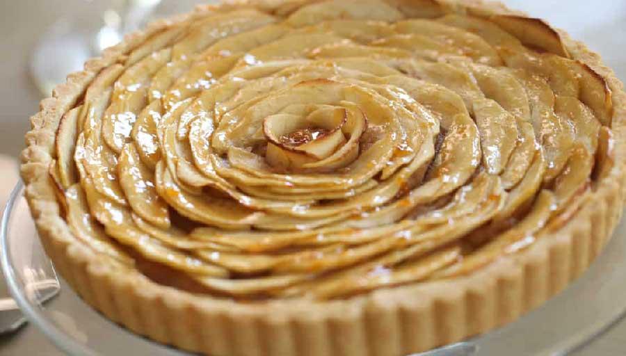 receta casera, tarta de manzana sin huevos
