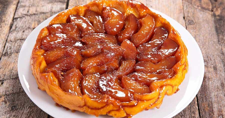 receta de tarta de manzana tatin