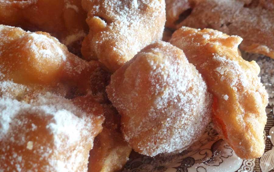 buñuelos de manzana con harina comun
