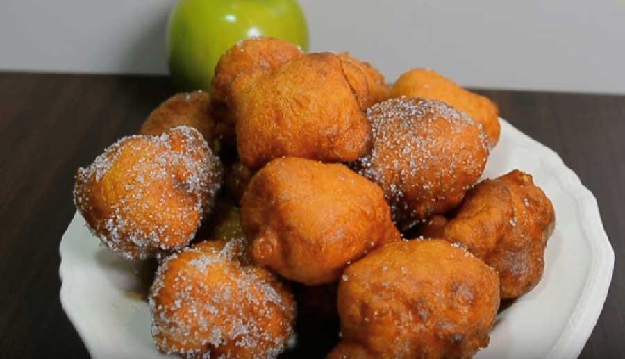buñuelos de manzana esponjos