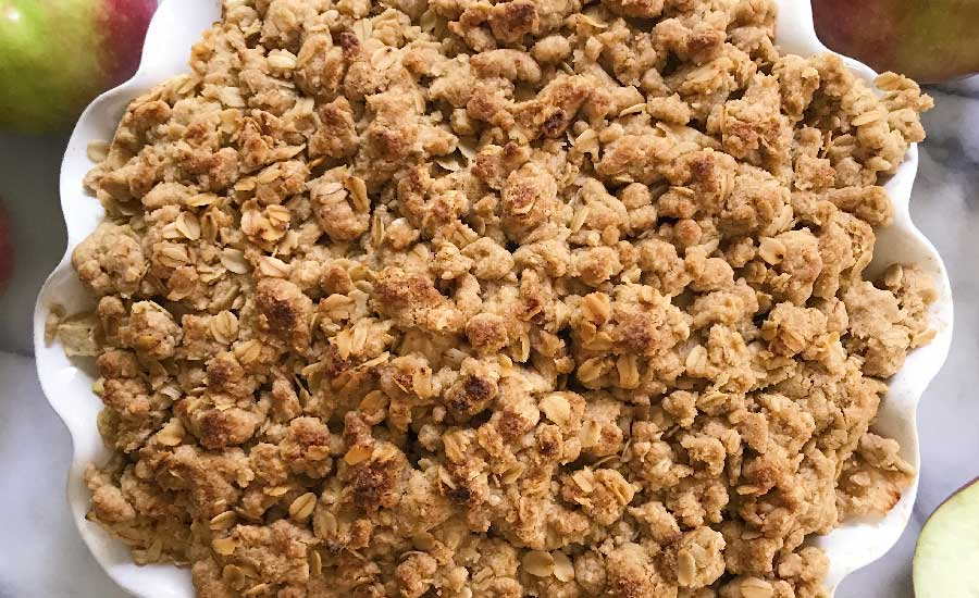receta de crumble de manzana para celiacos