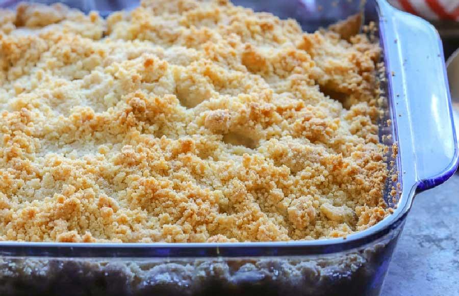 receta de crumble de manzana sin gluten