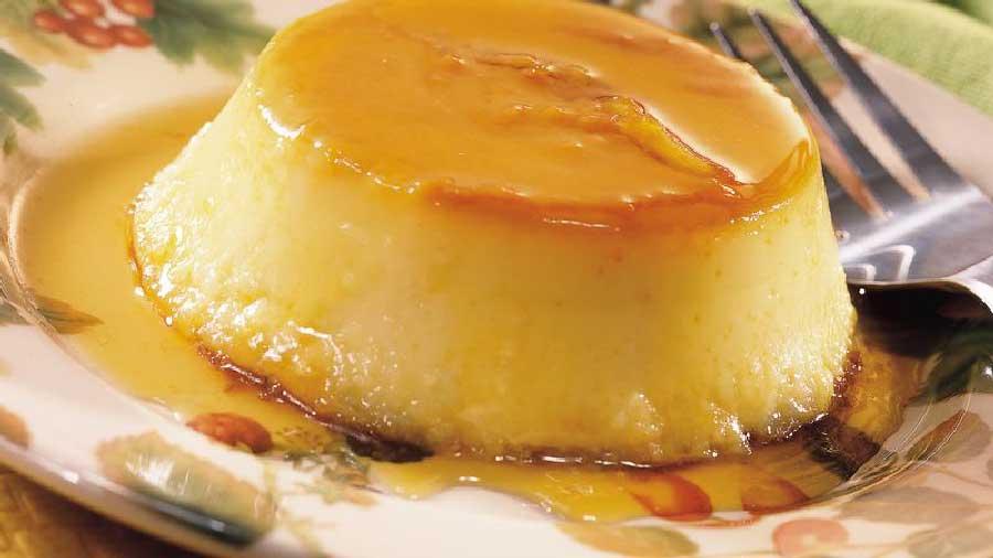receta de flan de manzana sin huevos