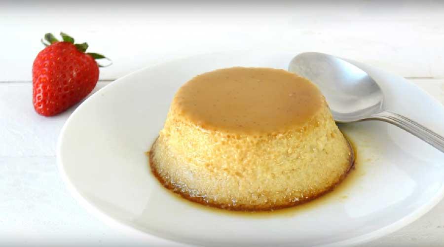 receta de flan de manzana y coco